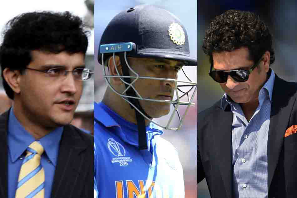 sourav ganguly with dhoni and sachin