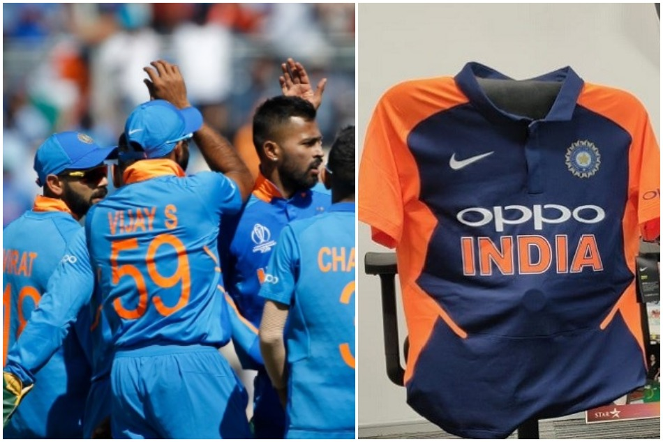 ICC issues a statement on team india new jerseyss color as it was opposed by Congress and Samajwadi Party