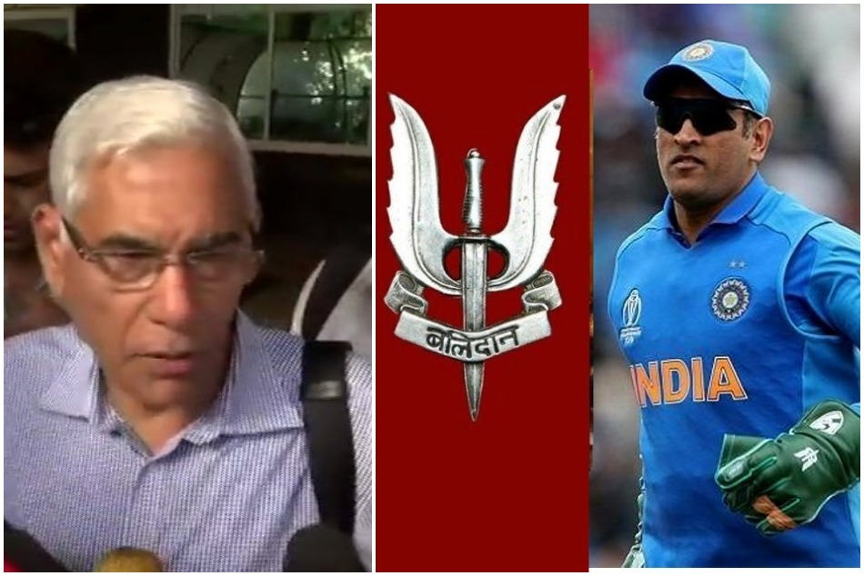 Cwc19 Vinod Rai Coa Said We Re Going To Tell Icc Balidaan Insignia Need Not Be Removed
