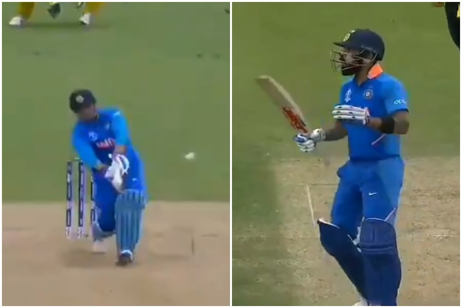 Cwc19 When Virat Kohli Is Overwhelmed By The Ms Dhoni S Six Video