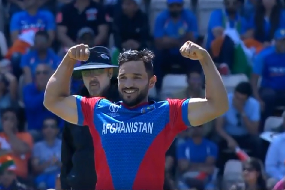 Gulbadin Naib Show Biceps After Take Wicket Against India Icc World Cup