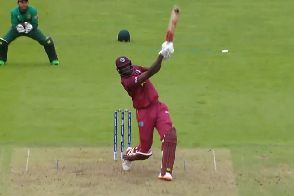 World Cup 2019 Jason Holder Hits The Longest Six Of The Tournament