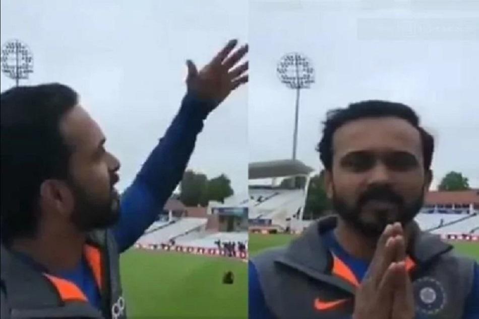Icc World Cup 2019 Kedar Jadhav Asked The British Rain To Go To Maharashtra