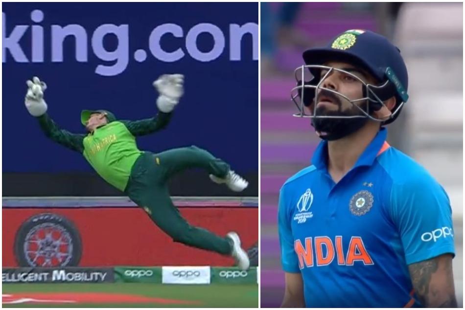 ICC World Cup 2019: De Kock incredible effort stunned virat kohli, Watch