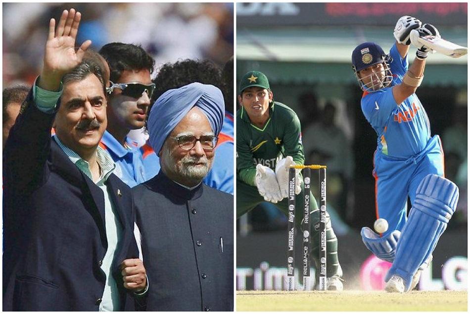 When Sachin Tendulkar Hit Runs And Pakistani Prime Minister Just Watch Him