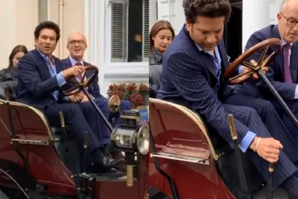 Sachin Tendulkar Drives A 119 Year Old Vintage Car In London