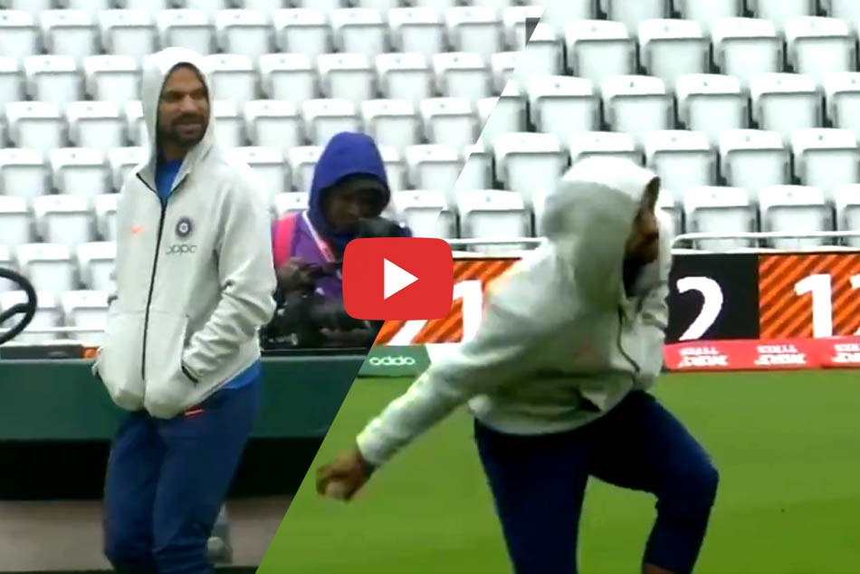 Shikhar Dhawan at Indias practice session at Trent Bridge, Nottingham