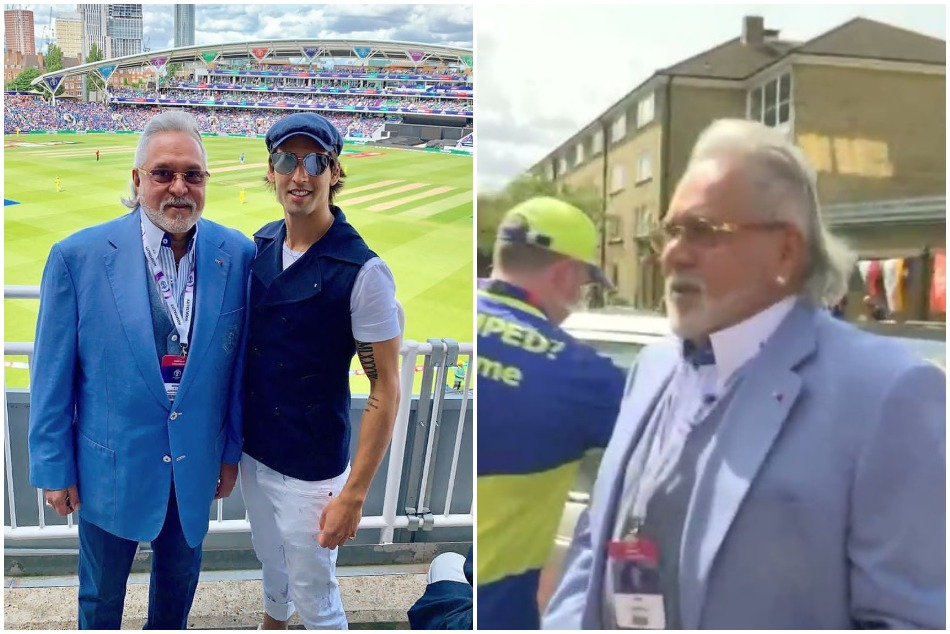 CWC19: Vijay Mallya arrives at The Oval cricket ground to watch INDvsAUS match