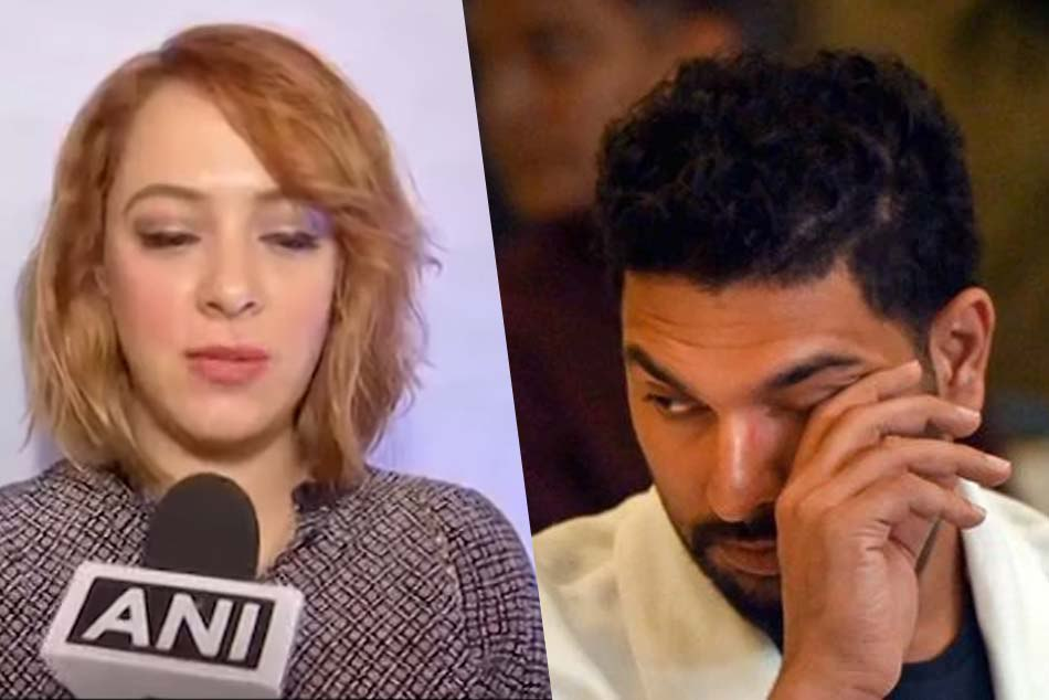 Hazel keech reveals that Yuvraj Singh was crying during the 2016 come back