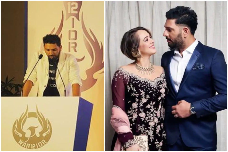 Hazel Keechs heart melting message on the Yuvraj Singh retirement