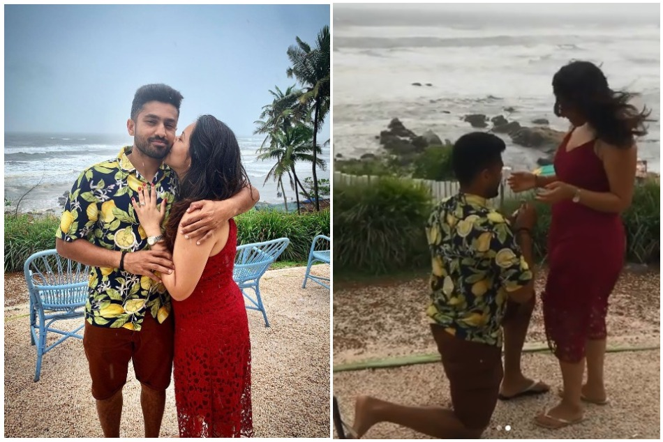Indian Cricketer Karun Nair Gets Engaged To Longtime Girlfriend See Video
