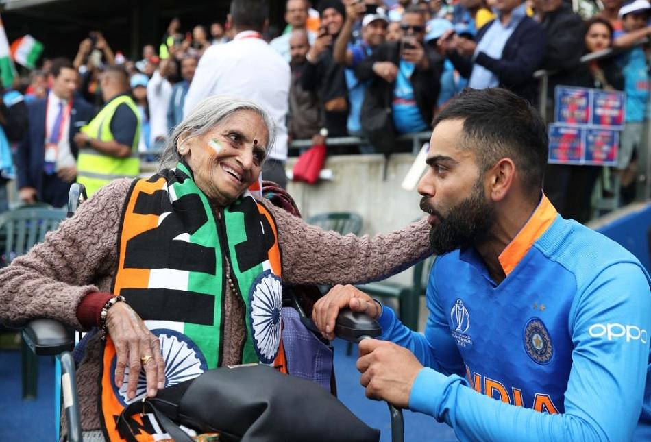 Virat Kohli, Rohit Sharma Get Blessings from 87-year Old Fan Charulata Patel
