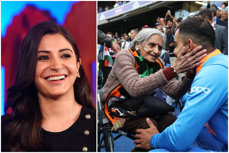 Anushka Sharma reacted on Virat Kohli and his 87 year old fans pictures