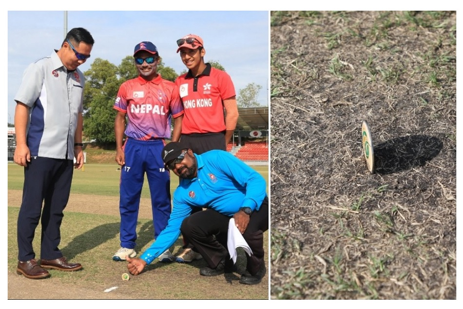 VIDEO: Tossing coin lands straight before in a U19 match in Malaysia