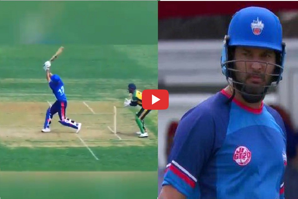 Yuvraj Singh out in bizzare manner in Global T20 Canada debut game, Video