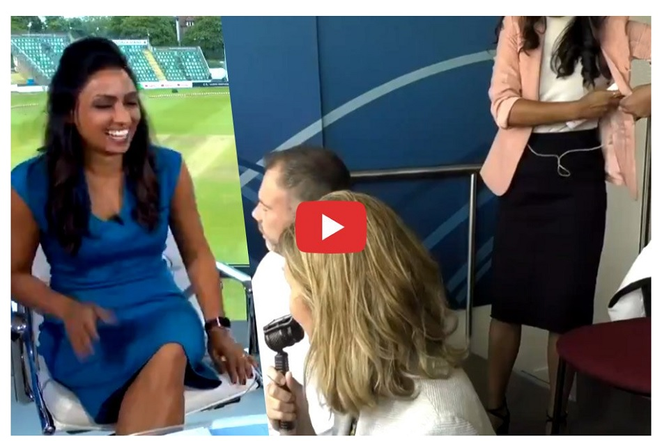Womens Ashes 2019: Isa Guha caught using deodorant on live TV, Video