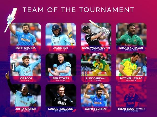 विश्व कप की 'टीम ऑफ द टूर्नामेंट'-