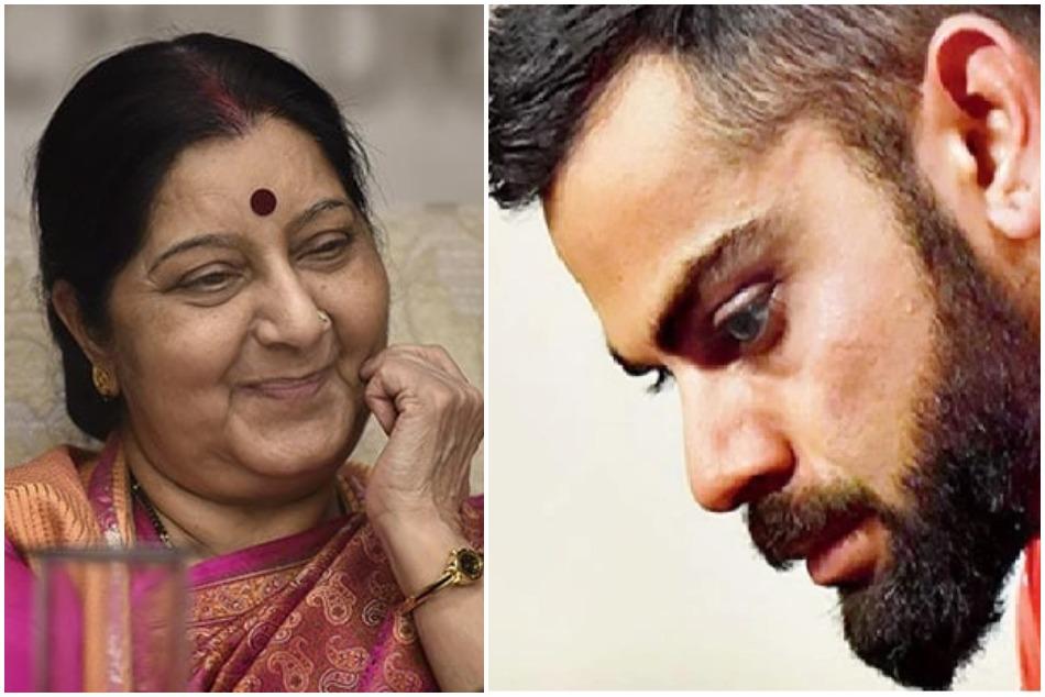 Virat Kohli deeply saddened tweet on Sushma swarajs demise