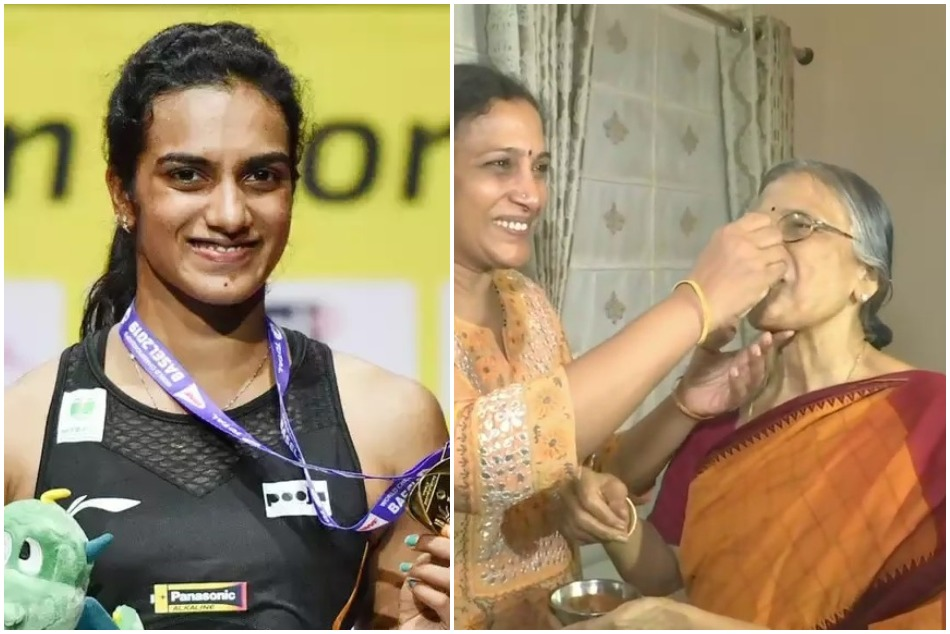 PV Sindhus mother reacts on her maiden World Championships title