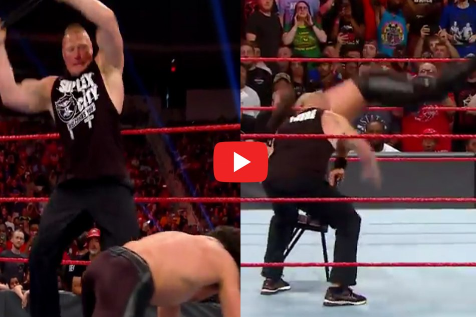 Wwe Superstar Seth Rollins Was Seen Suffering In The Ring After Brutal Beating By Brock Lesnar