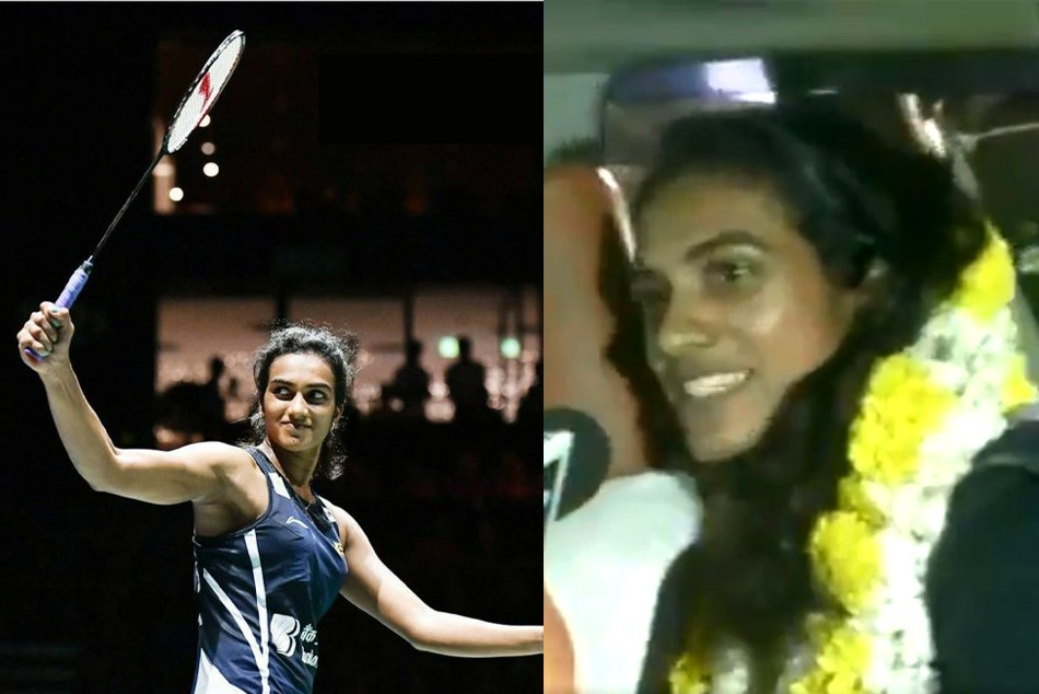PV Sindhu returns to India after world badminton championship win