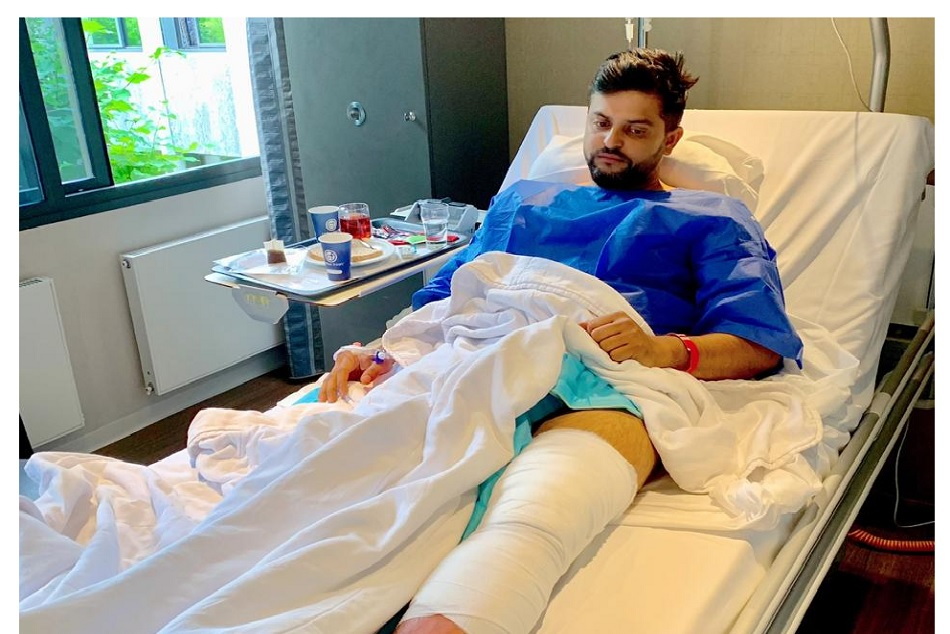 Raina underwent a knee surgery, it will take 4-6 week of rehab for recovery