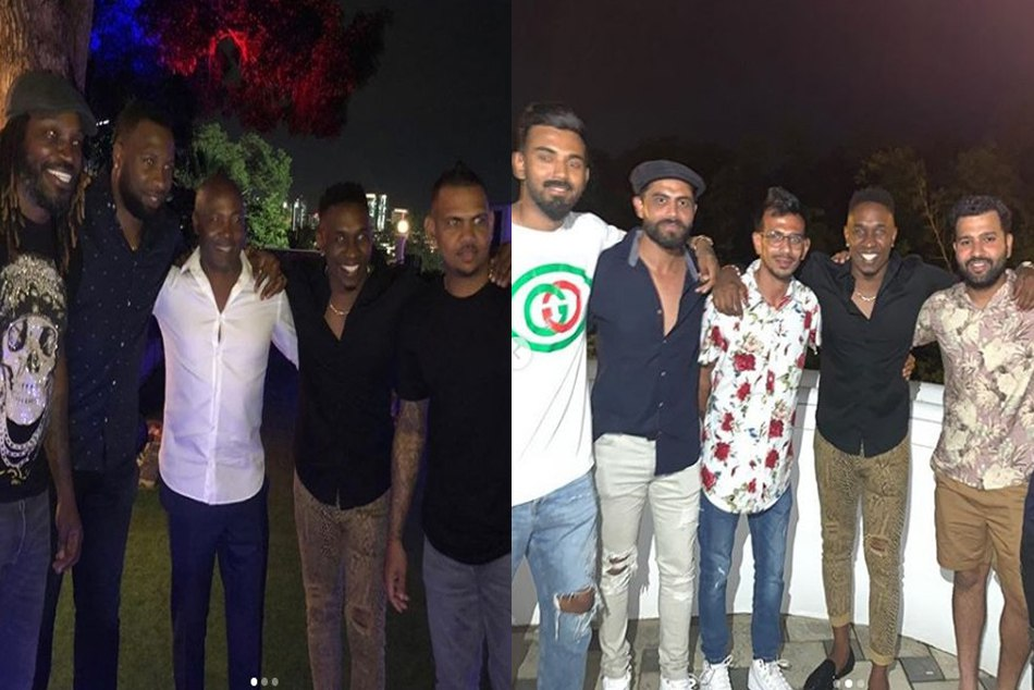 टेस्ट सीरीज से पहले टीम इंडिया ने विंडीज खिलाड़ियों संग की पार्टी, लारा बने होस्ट