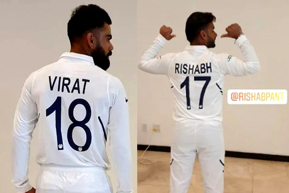 Team India shows its new jersey ahead of first test match against West Indies