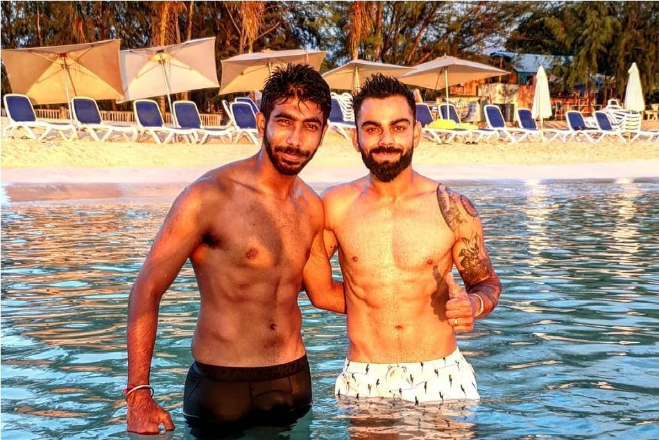 INDvsWI: Virat Kohli and Jasprit Bumrah flaunts their abs, Yuvraj singh amazed