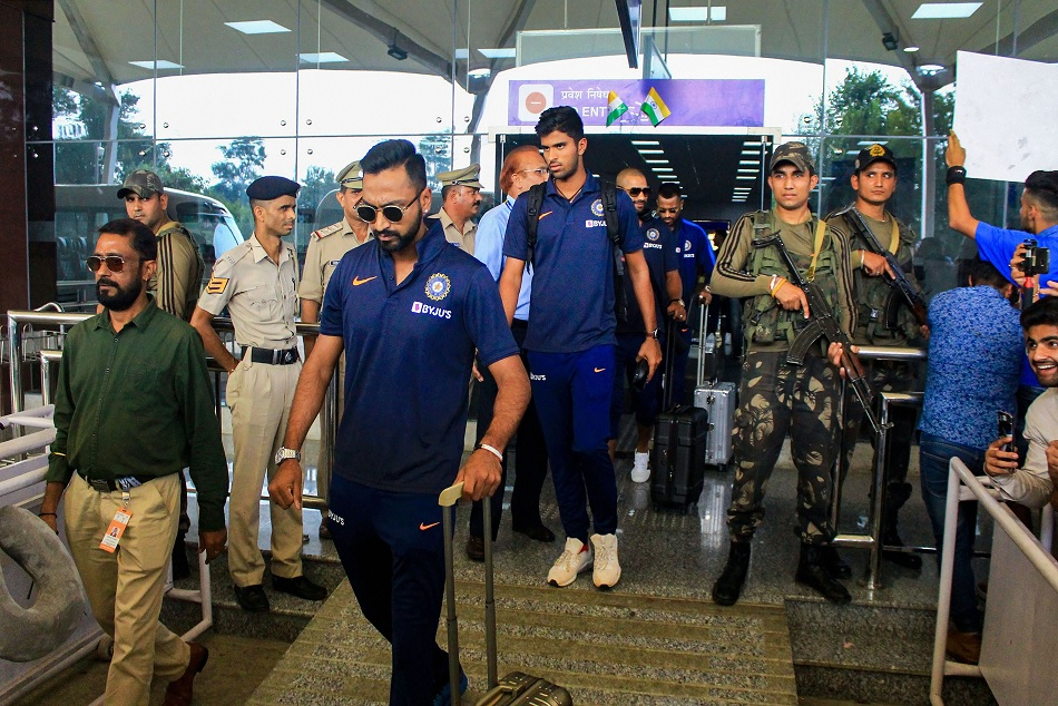 INDvsSA: Team India receives traditional welcome in Dharamsala, see pictures