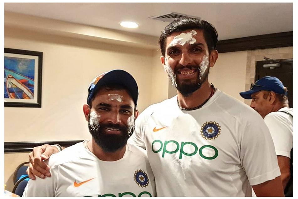 Mohammed Shami celebrated his birthday with Ishant Sharma and team