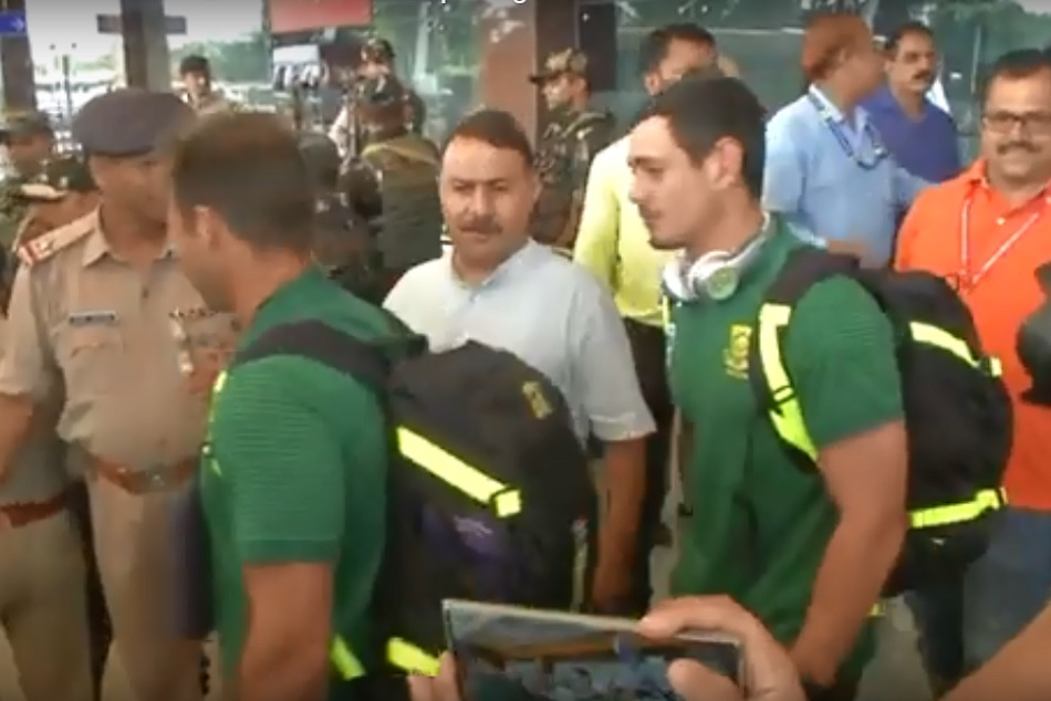 South Africa team arrives in dharamshala cricket stadium for t-20 serier opening match