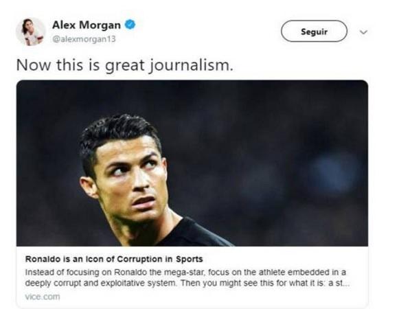 Alex Morgan on Cristiano Ronaldo