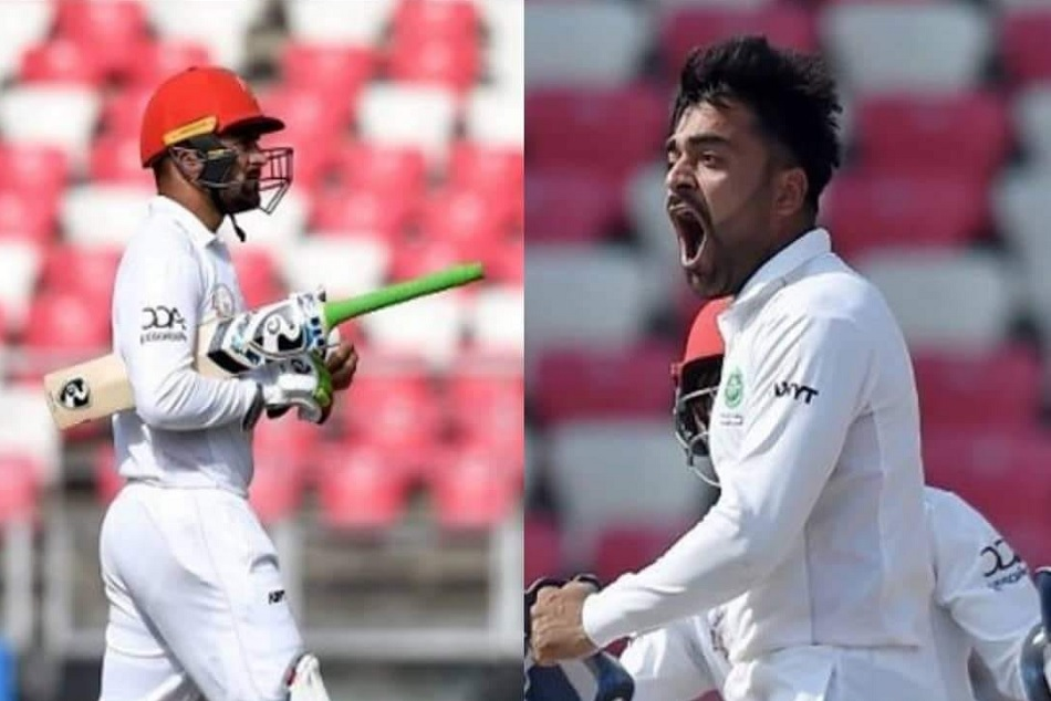 Rashid Khan scores 50 plus runs and take 5 wicket on captaincy debut in test
