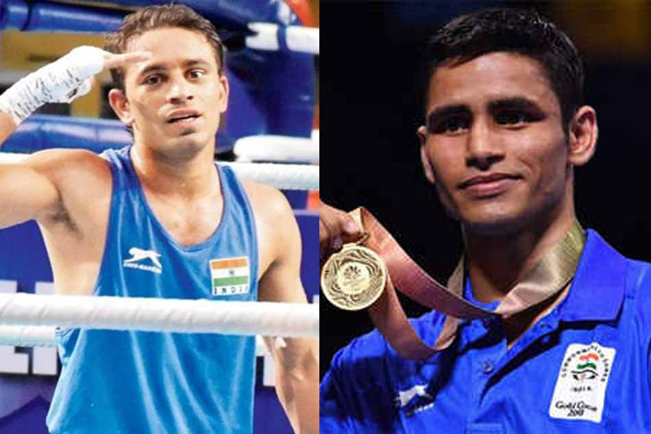 World Boxing Championships Amit Panghal Manish Kaushik Assured Medals For India Advances Semi Finals
