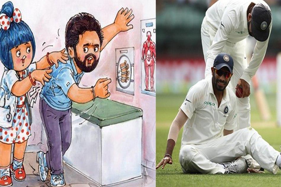 Amul Shows concern for Jasprit Bumrah's back problem, dedicates a doodle