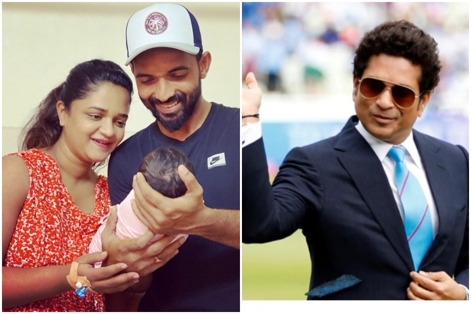 Sachin Tendulkar wishes hilariously to the new daddy Ajinkiya Rahane, See post