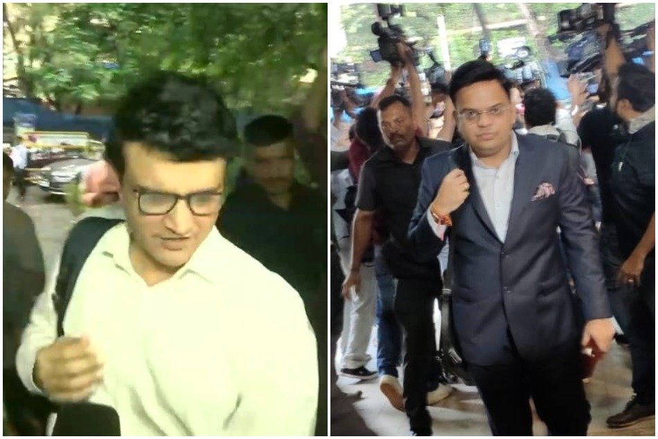 Sourav Ganguly and Jay Say arrives at BCCIs headquarters for attending AGM