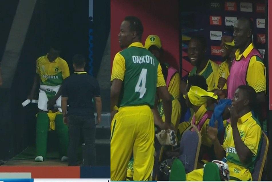 VIDEO : बैटिंग छोड़ टाॅयलेट के लिए भागा बल्लेबाज, सच्चाई जानने के बाद खूब हंसे बाकी खिलाड़ी