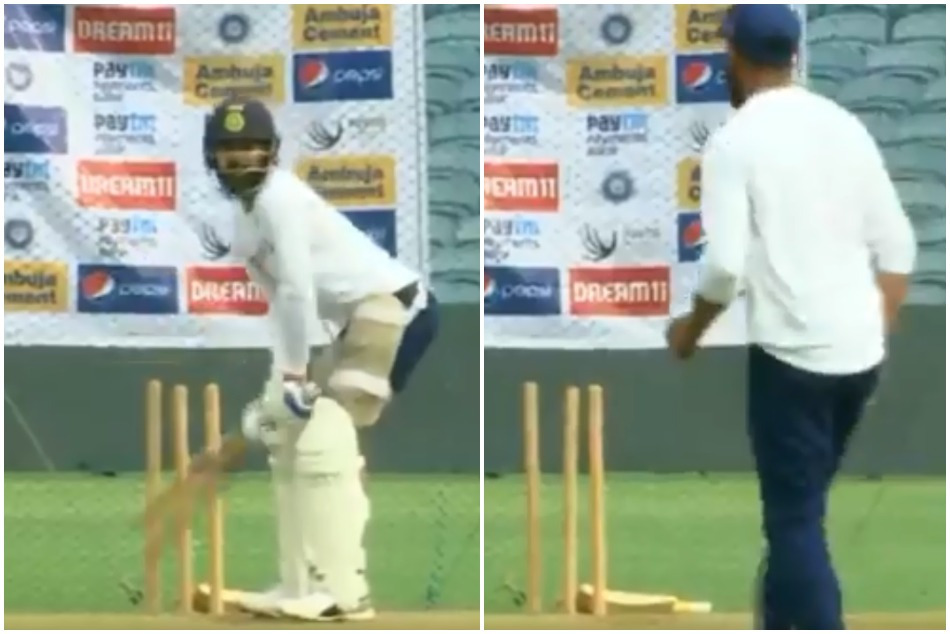 Watch the Virat Kohli and his fans reaction after he gets bowled by Ravindra Jadeja in nets