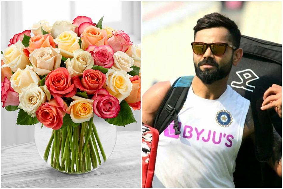 डे-नाइट टेस्ट से पहले कोहली से की गई 254 गुलाबों का गुलदस्ता देकर खास डिमांड