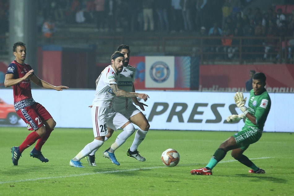 ISL 6: NorthEast United fought back late for a pulsating 1-1 draw vs Jamshedpur FC