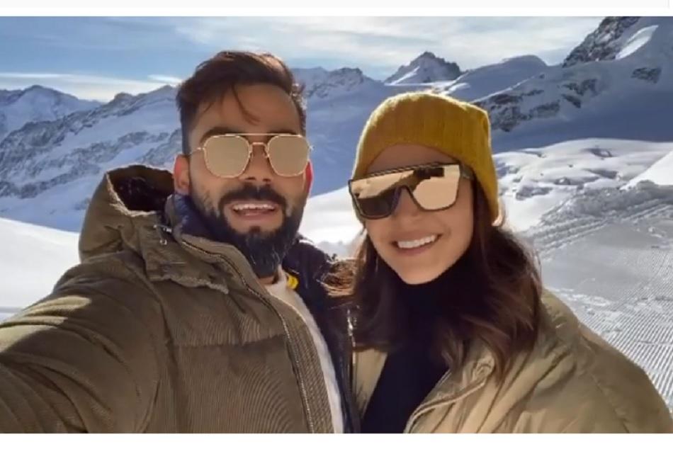 Virat Kohli and Anushka Sharma wishes New Year from Switzerland, Watch