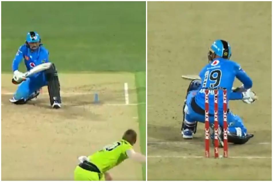 Rashid Khans lap sweep surprised in Big Bash League, watch amazing shot in VIDEO