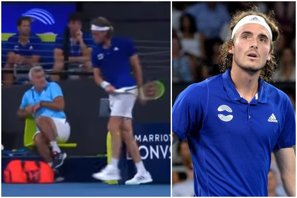 Stefanos Tsitsipas gets telling off from mother after hurt his father in a heated moment, Watch