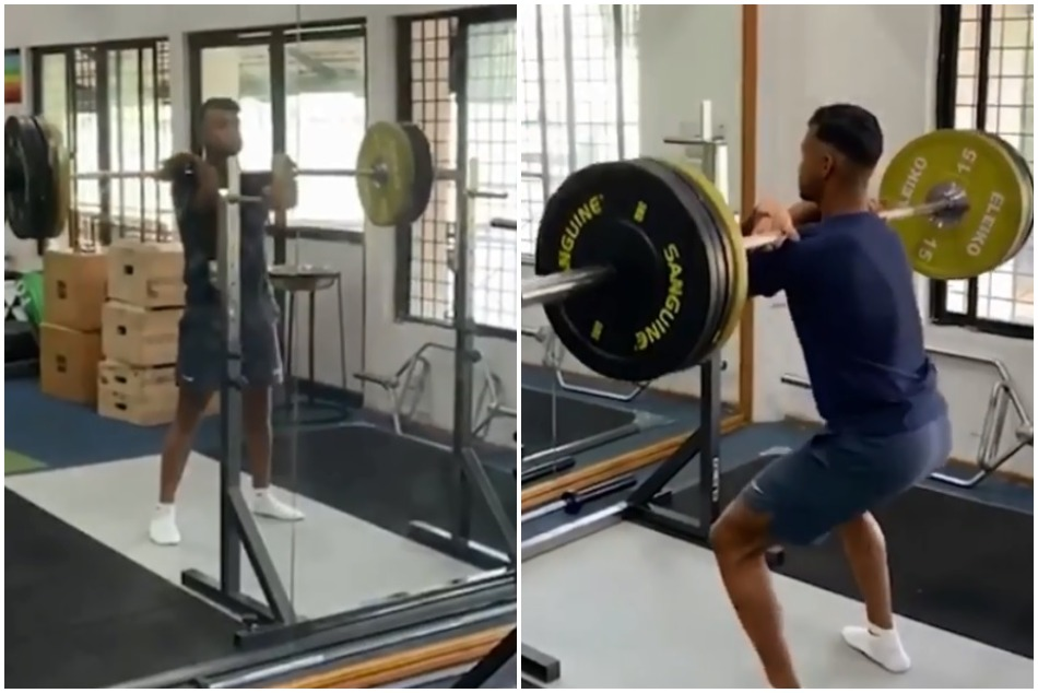Mayank Agarwal asked fans for their favourit work out song while he exercise in Gym, Watch