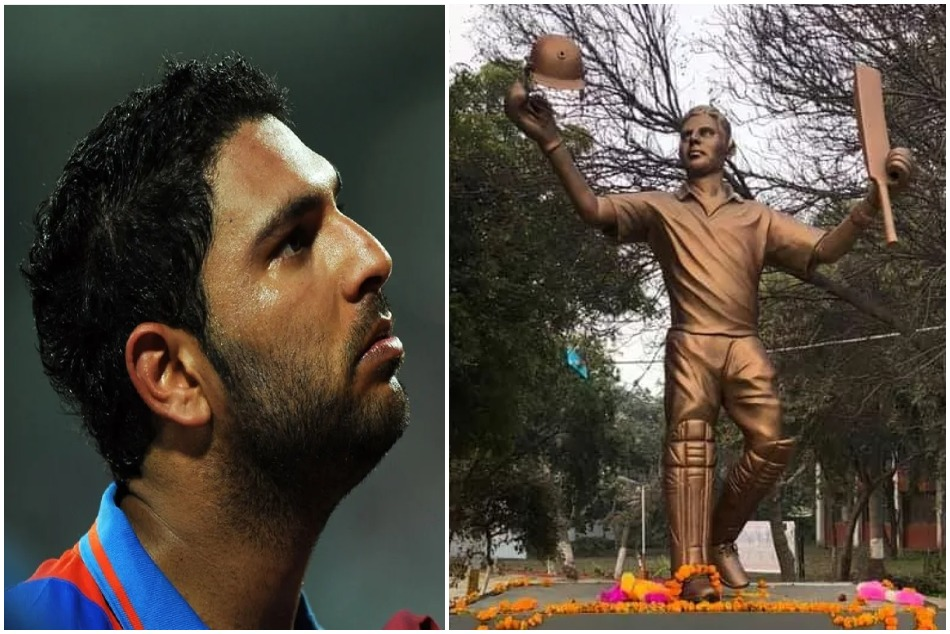 A huge honour to Yuvraj Singh as his Statue Unveiled In Ferozepur