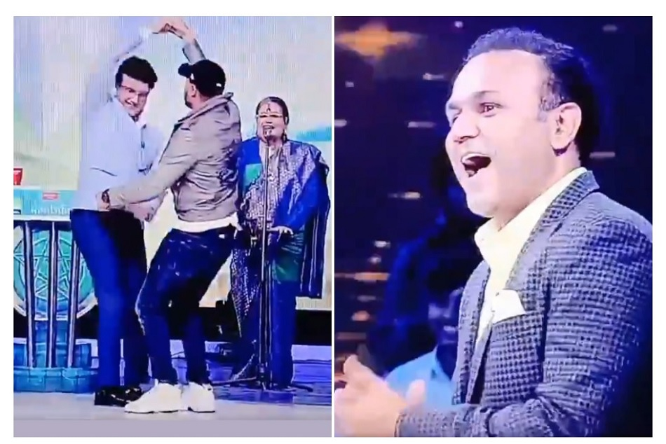 Sourav Ganguly and Harbhajan Singh Dance on Bollywood movie song, Watch