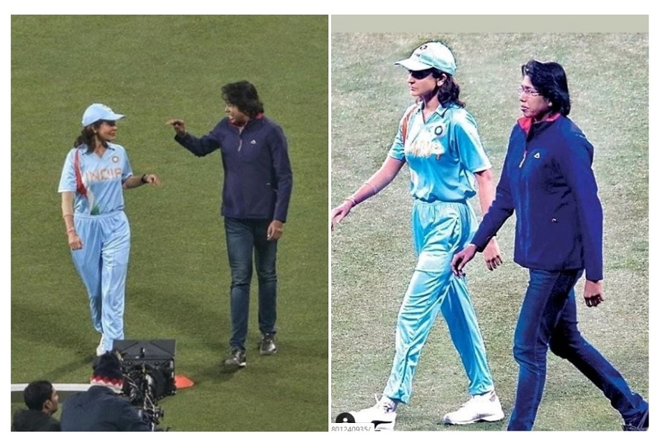 Anushka Sharma in team india jersey is seen with Jhulan Goswami, see pictures