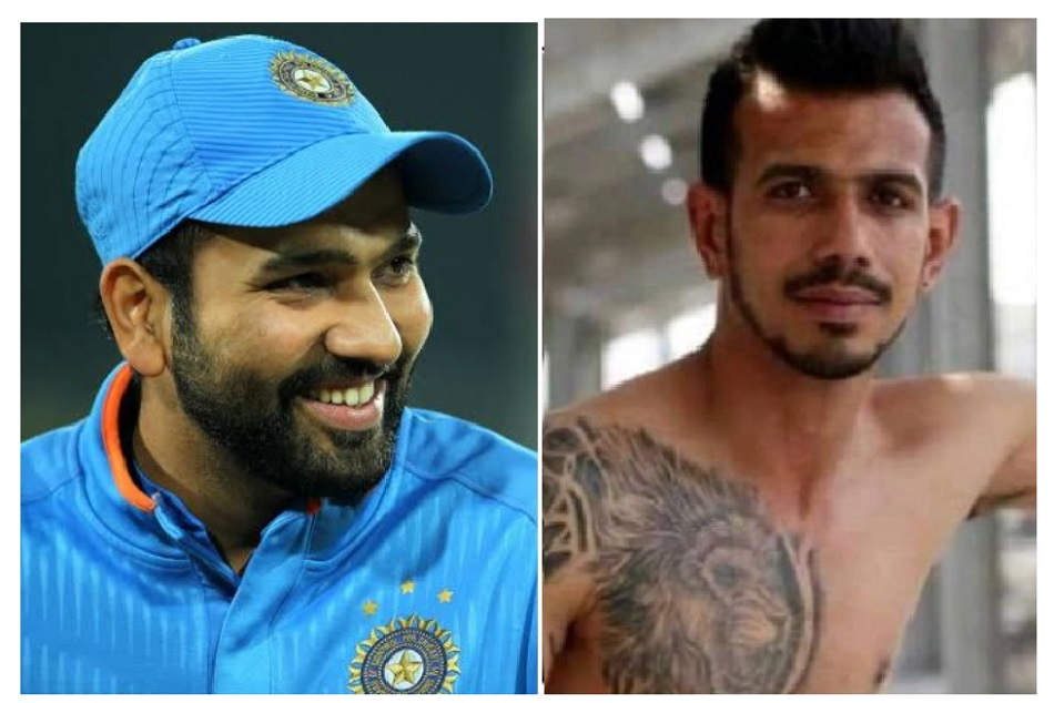 Rohit Sharma took a dig on shirtless Yuzvendra Chahal photo along with Dwayne Johnson